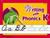 Abeka Writing with Phonics K5 Cursive