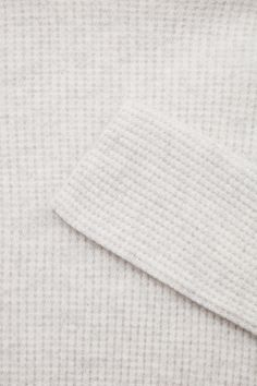 COS image 7 of Waffle knit cashmere dress in Taupe