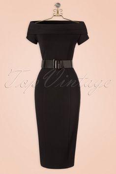 Vintage Diva Jazmin Dress in Black #vintagediva #jazminvintagediva #joanholloway #madmen #blackdress #offshoulder #littleblackdress #lbd #pinup #pinupstyle #pinuplook #leopard #leopardprint #pencildress #cocktaildress #rockabilly
