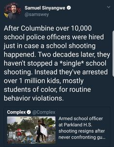 The end result is students of color are targeted and stigmatized, and mass shootings keep happening.