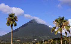 Kaimondake, Kagoshima, Japan is an almost perfect dormant, conical volcano.