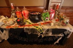 halloween wedding candy table