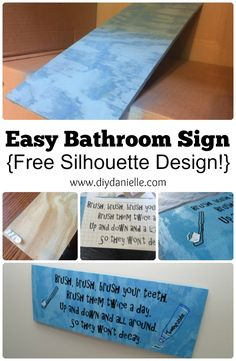 DIY Bathroom Sign for a Children's Bathroom to Remind them to Brush their Teeth!