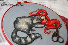 Схема для вышивки крестом Маленькие нимфы - Розальва. Отшив.