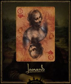 The masterworks of Renaissance artist Leonardo da Vinci, designed by hand in Gold and Silver Edition Playing Cards.