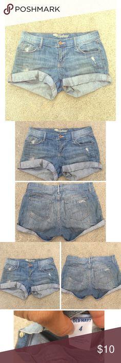 Boyfriend fit denim shorts Boyfriend for denim shorts. Size 4. Used. Good condition. Shorts Jean Shorts