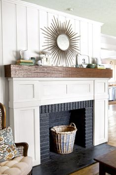 Most up-to-date Images white Fireplace Hearth Strategies Newest Cost-Free white Fireplace Hearth Ideas Most up-to-date Absolutely Free white Fireplace Tile White Fireplace Surround, Fireplace Facing, Slate Fireplace, Fireplace Update, Paint Fireplace, Fireplace Hearth, Fireplace Remodel, Fireplace Surrounds, Fireplace Makeovers