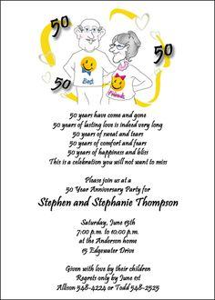 anniversary invitations 50th Invitation sent for the anniversary