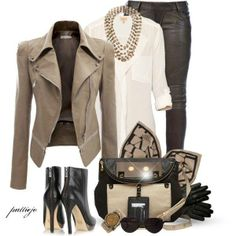 what to wear today Look Fashion, Fashion Outfits, Womens Fashion, Cool Outfits, Casual Outfits, Ladies Outfits, Leather Jacket Outfits, Tan Jacket, Mein Style