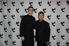 On April 28, 2017, Paulist Fr. Ivan Tou (right) and Paulist Seminarian Evan Cummings (left) attended the UC Berkeley Newman Hall's senior banquet for the Class of 2017.