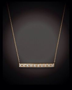 Diamond bar necklace. Available in yellow, white or rose gold. $225.00 Gayle's Jewelers Bogalusa, La
