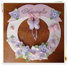 Porta maternidade de borboleta   Atelier Belly   1AD280 - Elo7