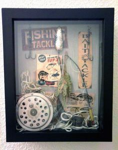 fishing shadowbox to go in our fishing theme bathroom these are fun to make