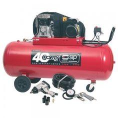 SIP Airmate TN3/200-SRB 200 litre air compressor with 7 piece air kit