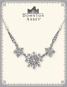 DOWNTON ABBEY WHITE DIAMOND STARBURST NECKLACE