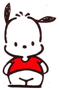 Pochacco Sanrio - A little dog character, his name means chubby.