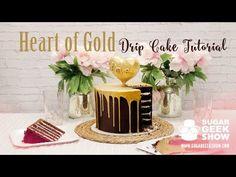 Heart of Gold Drip Cake Tutorial - YouTube