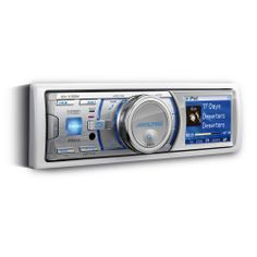 ALPINE iDA-X100M - Marine digital media receiver. Enjoy Your iPod® on the Waves ! It is ready for docking USB mass storage devices and has fully integrated iPod® capability based on Alpine award-winning in-vehicle iPod® interface.