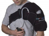 ThermoActive Shoulder Support Left Arm by ThermoActive. $85.25. Indications: Rotator cuff injury bursitis tendonitis Post-surgery shoulder strains and swelling post-exercise recovery before and after throwing routines. Each support features 3 components: an anatomical wrap with easy to adjust hook and loop; a patented removable gel pack that can either be frozen or heated depending on the use; and a unique hand-held pump that adjusts the level of compression. Fits...