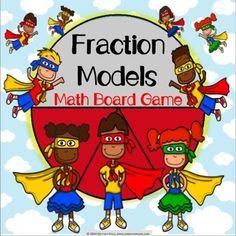 Fractions Activity: Fraction Models Game (3.NF.1)