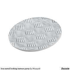 Iron metal looking texture Party paper plates