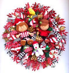 Christmas Wreath/Whimsical Wreath-Charlie Brown by SeasonalWreaths