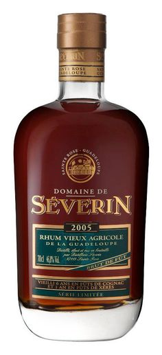 Domaine de Séverin. Rhum Vieux Agricole. Guadeloupe.  Aged 6 years in barrels of cognac and then tuned during a year in barrels of Xeres.