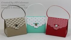 Scalloped Tag Topper Punch Purse Video Tutorial.  Super cute and very easy.  #stampinup www.jillstamps.com