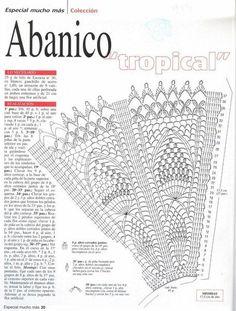 As Receitas de Crochê: Leques feitos em crochê