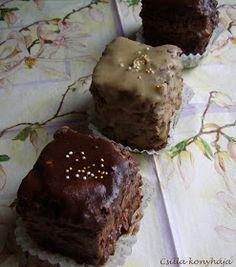 Csilla konyhája, mert enni jó!: Csokoládés mignon Food And Drink, Sweets, Snacks, Cookies, Chocolate, Cake, Bite Size, Crack Crackers, Appetizers