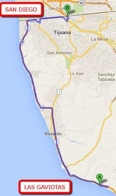 Pics Of Rosarito Mexico  Of The Pacific From Las Gaviotas In - Google maps us border to rosarito mexico