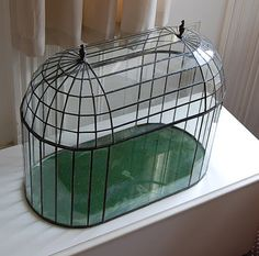 Glass & lead terrarium.