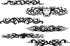Latest Five Tribal Armband Tattoo Design Tribal Band Tattoo, Tattoo Band, Tribal Tattoos, Band Tattoo Designs, Armband Tattoo Design, Flame Tattoos, Arm Tattoos, Letter Tattoos, Tatoos