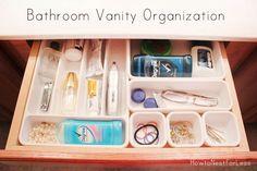 Bathroom Vanity Drawer Organization