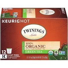 Twinings Organic Breakfast Blend, Keurig K-Cups, 12 Count: Free Of Fillers and Chemicals. All natural, gluten free, no trans fats. Made in United States. Pure Green Tea, Organic Herbal Tea, K Cups, Coffee Machine, Best Coffee, Keurig, Chai, Gourmet Recipes, Count