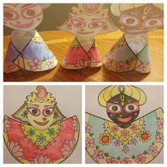 Ratha Yatra kids craft activity.  Sangeeta Rasa DD: Ratha Yatra time is coming.  I prepared some devotional kids craft activity…