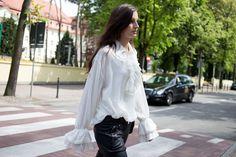Ruffled white shirt #ss16 #bycabo