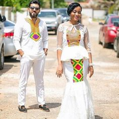 Do you know you can look prettier on corporate Kente attire? Couples African Outfits, African Dresses Men, Latest African Fashion Dresses, Couple Outfits, African Print Fashion, African Women, African Clothes, Africa Fashion, African Beauty