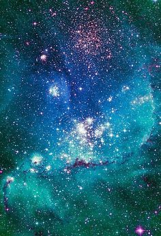 Turquoise Glitter Galaxy Art Photographic Print