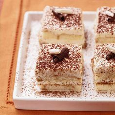 This classic Italian coffee-flavor dessert (pronounced tih-rah-mee-SOO) gets a fabulous new health-conscious lease on life when some of the traditional high-fat ingredients are replaced with fat-free or reduced-fat stand-ins.