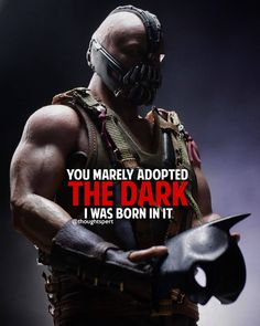 Image may contain: one or more people Bane Batman Quotes, Bane Quotes, Best Joker Quotes, Best Quotes Ever, Batman Vs, Badass Quotes, Tom Hardy Quotes, Black Quotes Wallpaper, Tom Hardy Bane