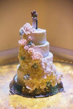 Gum paste flowers on cake