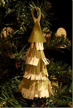 paper fringed tree ornament