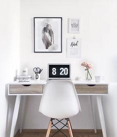scandinavian office interior monochrome