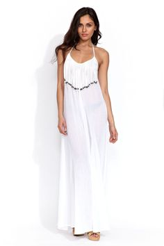 Mara Hoffman Fringe Maxi dress