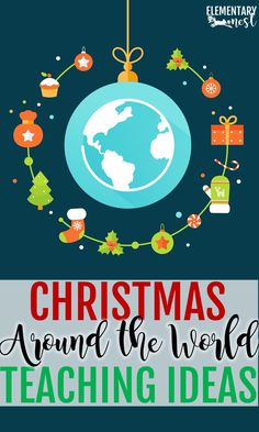 Christmas Around the World lesson plans and ideas, christmas around the world activities for the elementary classroom with Christmas Around the world FREEBIES Christmas World, Christmas Ideas, Xmas, Christmas Art, Common Core Curriculum, Kindergarten Lesson Plans, Holidays Around The World, Classroom Activities, Classroom Ideas