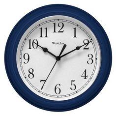Westclox 46985 Simplicity 8 Inch Round Wall Clock- Blue