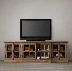 media stands, glass doors, restoration hardware, family rooms, tv stands, restorations, french casement, media consoles, medium