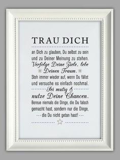 """TRAU DICH"" Kunstdruck von Smart-Art Kunstdrucke auf DaWanda.com"