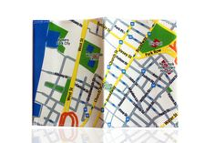 Fabric passport cover with New York map printed by efratul on Etsy,